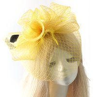 asian hen - Feather Mesh Netting Fascinator Hat Hair Clip Hairwear Wedding Party Ladies Day Hens colors for choose Gift Handmade
