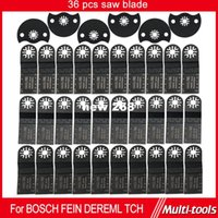 Wholesale 36 set Wood working Oscillating Multi tools Saw Blades Accessories fit for Multimaster power tools as Dremel Fein metal cut