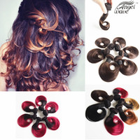 angels products - Angel Wave Hair Products Human hair weaves Brazilian Hair Short Natural Wave Ombre Hair Extensions B Burgundy B B Color inch