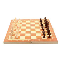 Wholesale New Arrival Quality Classic Wooden International Chess Set Board Game cm x cm Foldable Kids Gift Fun Hot