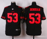Wholesale 53 Bowman New Arrivals Men ers Black Elite Stitched Jerseys Free Drop Shipping lymmia Mix order