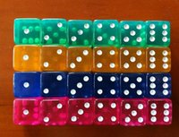 Wholesale NEW ARRIVAL MM Acryl Game Dice for Gambling dice Color random