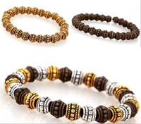 beads making bracelets - Fashion Round Wheel Beads Charm Tibetan Silver Spacer Beads for DIY Jewelry Making Bracelets