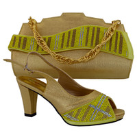 africa retail - Simple style Africa ladies High Heels and bags italian shoes matching bag set and retail MM1017
