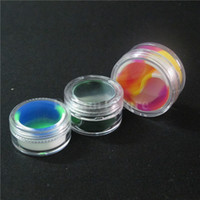 acrylic gel - New ml ml Round Silicone Containers With Clear Acrylic Shield Conta Nonstick For Oil Wax Dabs Slick Jars Free Hookah Gel Holder Taiji