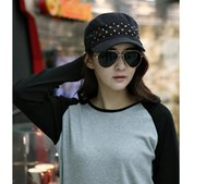 Wholesale Men and women rivet flat hat Personality navy cap Leisure topi Europe and the United States edition