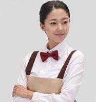 Wholesale hotel necktie hotel waiter neck tie restaurant waiter decoration accessories waiteress accessories