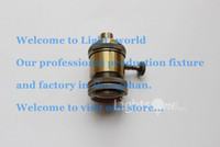 Wholesale Factory Loft Vintage Retro Plated Edison socket holder E27 UL V V Aluminium Lamp Base