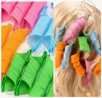 Wholesale 200set CCA4195 High Quality set Candy Color DIY Magic Leverag Hair Curlers Tool Styling Rollers Spiral Circle Perm With Retail Package