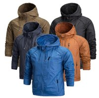 american style hoodies - 2017 in stock Autumn spring casual Jacket and Coats zipper European and American style retro jackets washed special men Hoodie coats