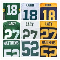 Wholesale Men s American football Elite jerseys Green Bay Cobb Lacy Matthews High quality The traditional embroidery