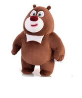 Wholesale Plush dolls Bears senior Bear junior and Bald guy Qiangbear baldheaded stronger plush toys