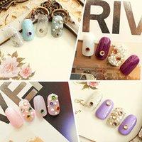 Wholesale 200pcs D mm Acrylic Decor Nail Art Charms Bling Rhinestone Pearl Tips DIY