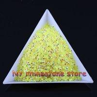 achat en gros de sacs de gelée jaune-Livraison gratuite 10000pcs / bag SS6 2mm jaune citron magique couleur AB gelée résine cristal strass perles Nail Art