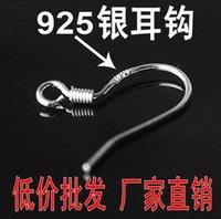 Wholesale 2016 Hot sell Sterling Silver Earring Findings Fishwire Hooks Jewelry DIY mm fish Hook Fit Earrings