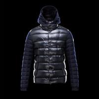 Wholesale High quality Down jacket Patchwork matte Bomber White Duck down Button Mans Coat Windbreaker Plus size Male Clothes