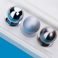 aluminium cabinet handles - 5pcs Single Hole Knob Aluminium Alloy Round Wardrobe Drawer Pull Kitchen Cabinet Handle Drawer Knobs