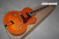 best electric cooler - New arrival cool hollow body Electric guitar modern custom shop super high quality orange best selling gold metal headcase