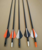 Wholesale HIGH QUALITY CARBON FIBRE ARROW SHAFT FOR COMPOUND BOW USED FOR HUNTING AND TRANING ARROW HEAD CHANGEABLE PLASTIC FEATHER