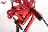 Wholesale Rearsets CNC Adjustable Rear set Footpegs For KAWASAKI ZX6R ZX6 R RED alloy motor alloy elbow