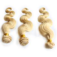 Wholesale Virgin Remy Bleach blond hair Bundles Body Wave Human wave Hair Extensions Weave