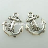 antique boat anchor - 15444 Alloy Antique Silver Vintage Boat Anchor Beach Nautical Pendant