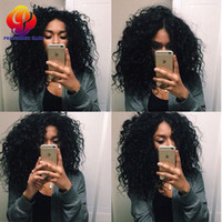 Wholesale Virgin Brazilian Human Hair Wigs For Black Women Kinky Curly Wigs Full Lace Front Wigs With Baby Hair Around Bleached Knots