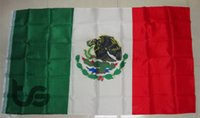 Wholesale Mexico Flag Banner Mexican national flag x5 FT cm National flag for Festival the world cup Home Decoration Mexico Flag