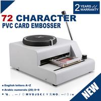 Wholesale 72 Character Manual Embosser Embossing Machine PVC ID Credit Card Stamping Machine Code Printer