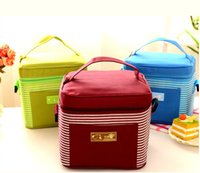 aluminum lunch boxes - 50 new creative lunch bag tin foil cloth aluminum foil insulation bag hand bag ice lunch boxes picnic bags mixed batch