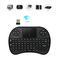 Wholesale 2 GHz Wireless keyboard Remote Control and Mini fly Air Mouse for computer game gaming keyboard teclado gamer touchpad