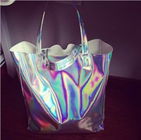 Wholesale 2016 Sac A Main Marques Designer Handbags High Quality Women s Flat Silver Laser Handbag Harajuku Hologram Bag Shopper Beach Bag