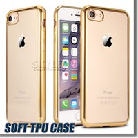 bag technology - Iphone Case S7 Cases Iphone TPU Backcover Ultra Thin Case iphone Electroplating Technology Soft Gel Silicone Case Samsung Case Opp Bag