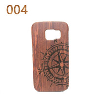 bamboo sculptures - New Traditional Bamboo Sculpture Wood phone Case Covers For Samsung S6 Edge tree ship owl National flag phone shell