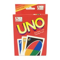 Wholesale UNO Standard English Fun Cards Game for Family Number One for Family Fun