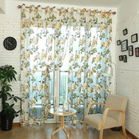 Wholesale Sheer Curtain Window Screening Balcony Finished Product Curtain Yarn Rustic Fabric Modern Curtain DHL w