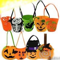 bag booth - halloween theme Pumpkin handbag bag Photo Props booth photograph props candy favor box bag party supplies Ttrick or Treat