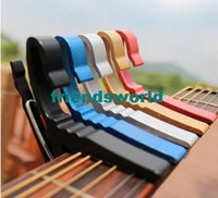 Wholesale Best price multicolor Quick Change Trigger Key Capo Acoustic Electric Guitar Clamp Black