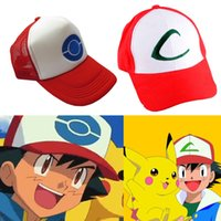 ash hot - Hot New Anime Cosplay Pocket Monster Ash Ketchum Cap Embroidered Hat Adults Kids Size