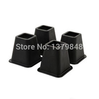 Wholesale 4PCS SET Bed Accessories Bed Raisers for Storage Under Bed set of Black Bed Risers
