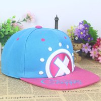 adult chopper - Hot Hip hop hat cap with Japanese Anime ONE PIECE Cosplay Tony Tony Chopper embroidery mark