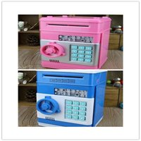 Wholesale Mini Password Saving Pot Piggy bank Lockbox Six color choise Access money Mini secret square strongbox
