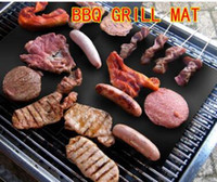 bags making machine - opp bag Barbecue Grilling Liner Teflon BBQ Grill Mat Portable Non stick and Reusable Make Grill Easy CM MM Black Oven Hotplate Mats