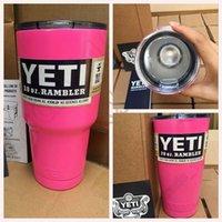 Wholesale Pink YETI Tumbler Rambler Cups oz oz Coolers Cup Sports Mugs Large Capacity Stainless Steel Travel Mug OOA249
