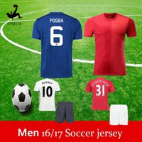 Wholesale Rooney Soccer Jersey set Zlantan Ibrahimovic Jersey Paul Pogba Mkhitaryan Football Shirt Martial Camiseta de futbol Maillot