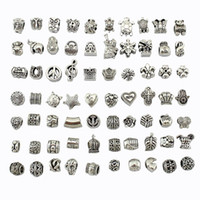 Wholesale Mix Style Big Hole Loose Beads charm For Pandora DIY Jewelry Bracelet For European Bracelet Necklace J917