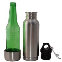 Wholesale 2016 Bottle Armour Koozie Keeper beer bottle keeper Bottle Armour Bottle Koozie Insulator with Bottle Opener