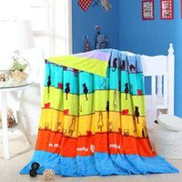 airplane fleece fabric - Low price Modern Animal cats Woven Hotel Airplane Sky Blue full king size fleece flannel blanket