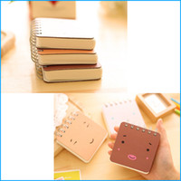 Wholesale 144 Sheets Mini Blank Book Notebook Pocket Notepad Journal Planner Student Spiral Book Notes School Supplies Stationery