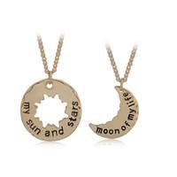 achat en gros de ventes en gros ensembles de bijoux-Hot Sales Couple Collier Pendentif Jeu de trônes mon soleil et les étoiles Golden Silver Jewelry Sets Valentine Cadeaux en gros NICE